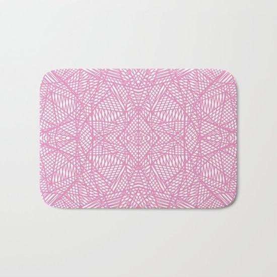 Ab Lace Pink Bath Mat