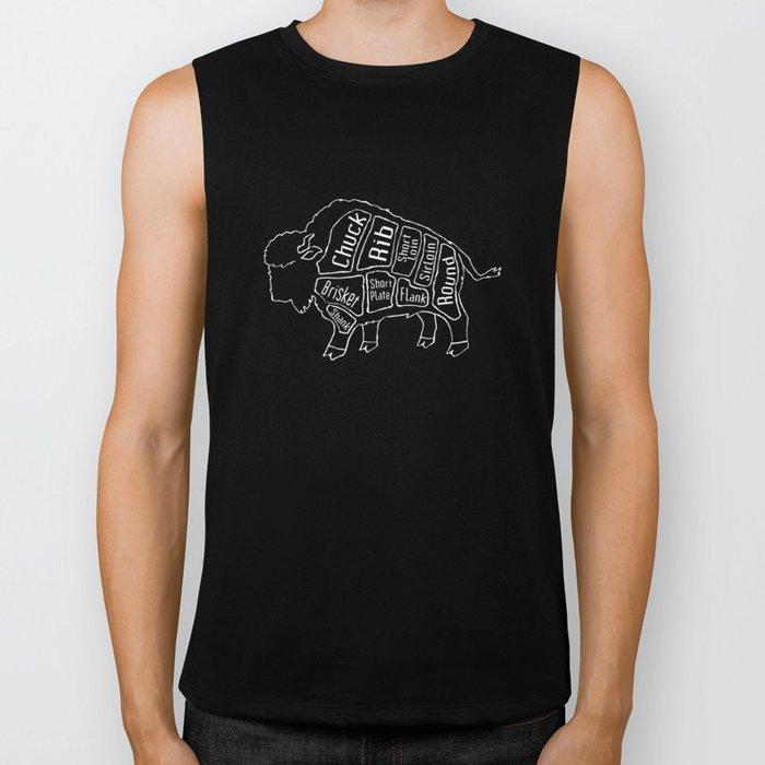 Buffalo Butcher Diagram (Meat Chart) Biker Tank