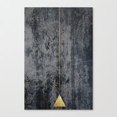 gOld triangle Canvas Print