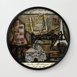 grandma's singer Wall Clock