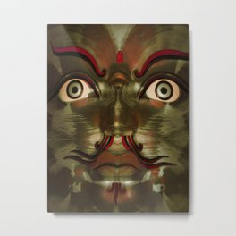 Green Buddha Metal Print