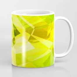 Pale Yellow Poinsettia 1 Abstract Polygons 1 Coffee Mug