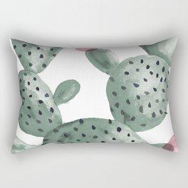 Cactus Cacti Botanical Watercolor Rectangular Pillow