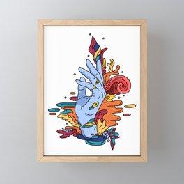 Abstract hand Framed Mini Art Print