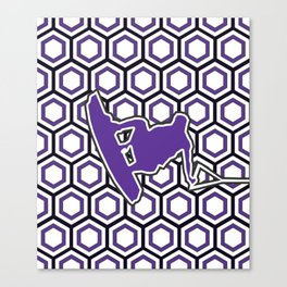 Indigo Purple Wakeboarder Getting Air Canvas Print