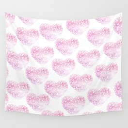 Blush pink watercolor abstract watercolor hearts pattern Wall Tapestry