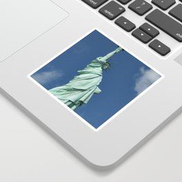 Blue Skies Behind Lady Liberty Sticker