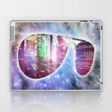 The city, the stars, and the avie shades. Laptop & iPad Skin