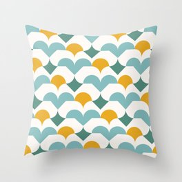 Geometric modern abstract pattern 03 Throw Pillow