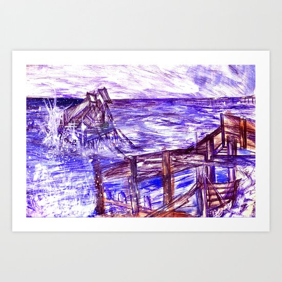 Stormy Brighton Art Print