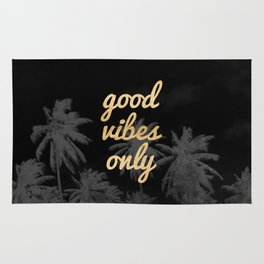 Good Vibes Only Palm Trees Rug