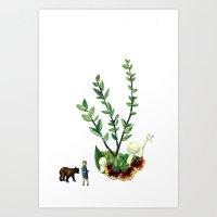 guardians Art Prints featuring Guardians  by Ben Giles