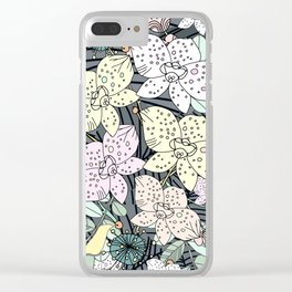 Orchids in Bloom Clear iPhone Case