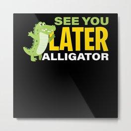Crocodile Alligator Metal Print