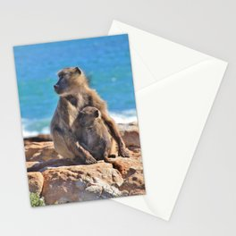 Mother and Baby Monkey Stationery Cards