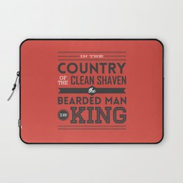 In the country of the clean shaven, the bearded man is king!  Laptop Sleeve