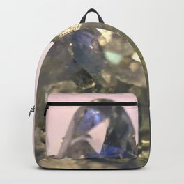 Blue Celestite Crystals Quartz Aura Said to Reduce Stress Backpack