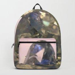 Blue Celestite Crystals Quartz Aura Said to Reduce Stress Backpack
