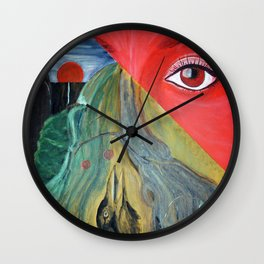 Nature_red Wall Clock