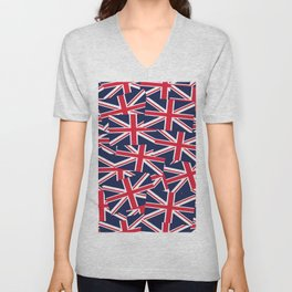 Union Jack Flags Unisex V-Neck