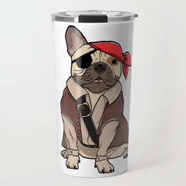 """Certified Dog Lover? Here's a cute t-shirt design with an illustration of """"FRENCH BULLDOG"""" T-shirt Travel Mug"""