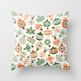 Vintage Ornaments Throw Pillow