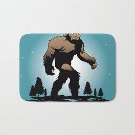Bigfoot Silhouette Illustration. Bath Mat