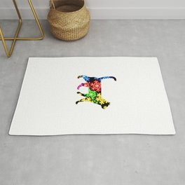 Cat Showflake Rainbow Rug