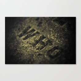 Who in Stone Canvas Print