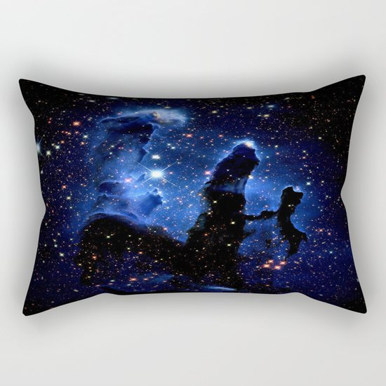 gaLAXY Blue Pillars of Creation Rectangular Pillow