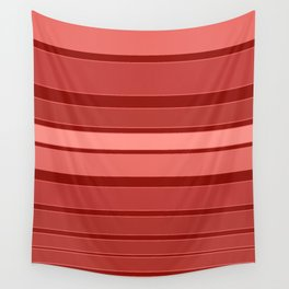 Terracotta striped background Wall Tapestry