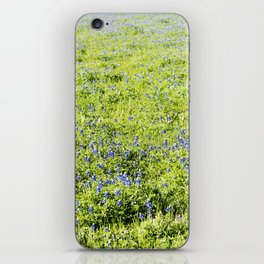 Texas Bluebonnet Field iPhone Skin