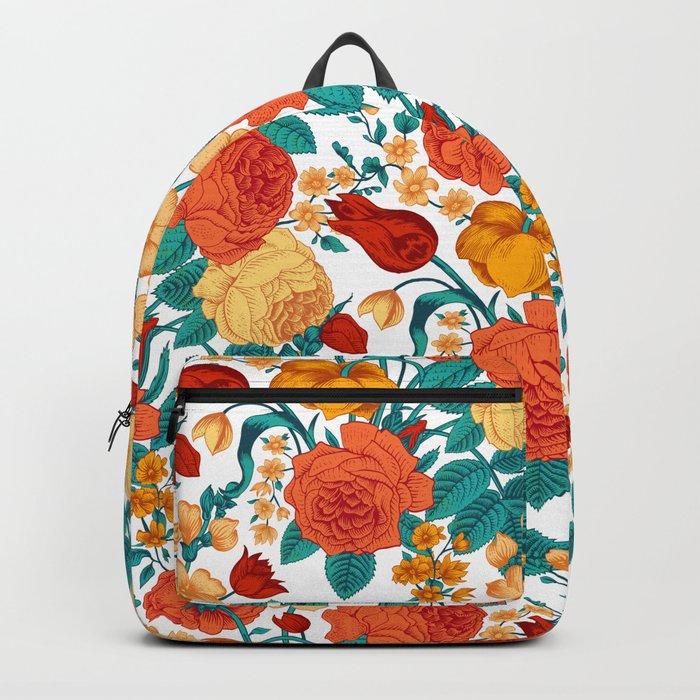 Vintage flower garden Backpack