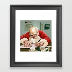 Checking It Twice Framed Art Print
