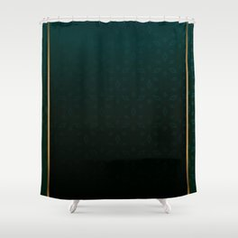 Emerald and Gold Accents Shower Curtain