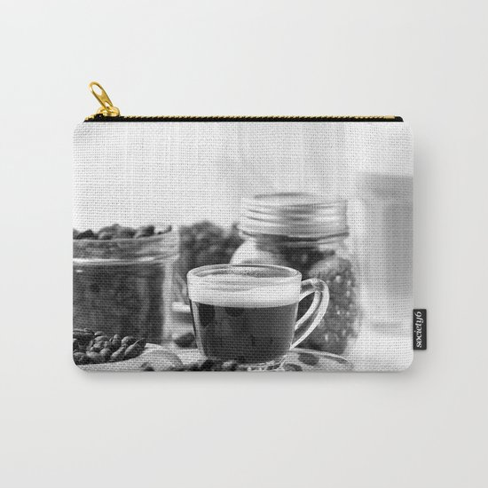 Black and white coffee bar Carry-All Pouch