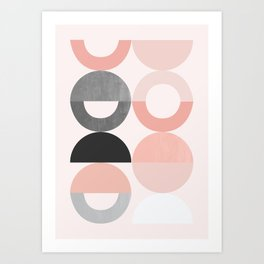Playground III: Rose Gold Art Print