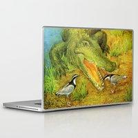 crocodile Laptop & iPad Skins featuring Crocodile by Natalie Berman