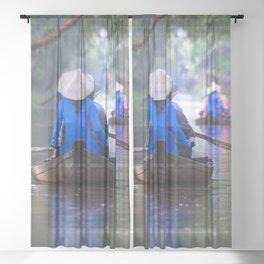 Gao Giong Boats Sheer Curtain