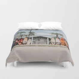 lets surf vi / maui, hawaii Duvet Cover