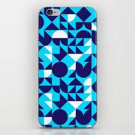 geometric blue iPhone Skin