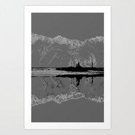 Knik River Mts. Pop Art - 3 Art Print