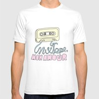 Mixtape mon amour Mens Fitted Tee MEDIUM White