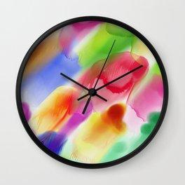 Watercolor Ink Blots Wall Clock