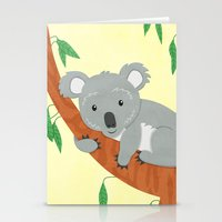 koala Stationery Cards featuring Koala by Claire Lordon