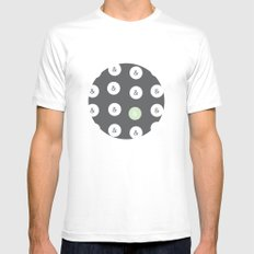 spot color ampersand Mens Fitted Tee White MEDIUM