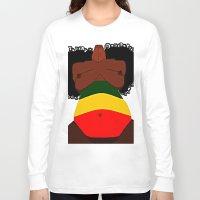 rasta Long Sleeve T-shirts featuring Rasta Beauty by Courtney Ladybug Johnson