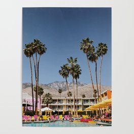Palm Springs #society6 #decor #buyart Poster