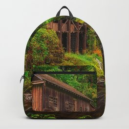 Nature USA Washington Cedar Creek Grist Mill, Woodland  Autumn Backpack