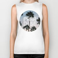 paradise Biker Tanks featuring PARADISE by RichCaspian